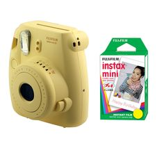 Fujifilm FU64-MINI8YK20 INSTAX MINI 8 Camera and Film Kit with 20 Exposures (Yellow) >>> Check out this great product. (This is an Amazon Affiliate link and I receive a commission for the sales)