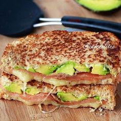 Smoked Salmon and Avocado Grilled Cheese Stack! recipe: Try this Smoked Salmon and Avocado Grilled Cheese Stack! recipe, or contribute your own. Smoked Salmon Sandwich, Smoked Salmon Recipes, Healthy Salmon Recipes, Grilled Sandwich, Grilled Salmon, Avocado Recipes, Tilapia Recipes, Grilled Fish, Orange Recipes
