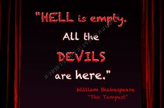 William Shakespeare The Tempest Goth Quote by JenniferRoseGallery, $20.00