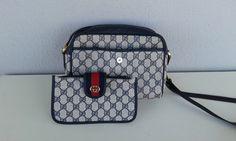 Gucci vintage navy blue GG monogram shoulder bag with by ALILALIA