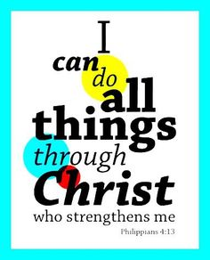 Christ Strengthens Me