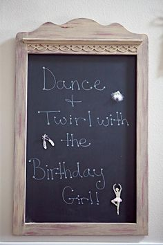 Perfect birthday party idea for Hadleigh,with this being her first year in ballet,and her studio does birthday parties!!