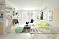 3 White Apartments in Different Styles