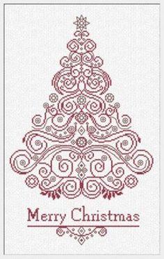 CT130 Christmas Tree cross stitch chart Alessandra Adelaide Needlework