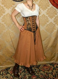 New Sarah Skirt in Caramel  Ready to Ship  by VeneficaCorsetry  Simply lovely ~ W