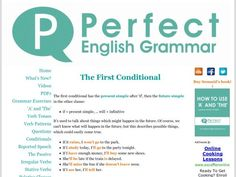 Learn about the first conditional here - with easy explanations and lots of exercises English Teaching Materials, Teaching English, Conditionals Grammar, Writing Graphic Organizers, Grammar Exercises, Perfect English, Verb Tenses, English Grammar, Whats New