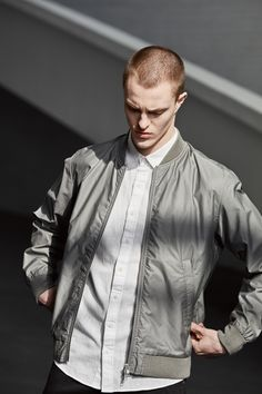 The Makia Departure Jacket is a bomber influenced light summer jacket with an Oxford lining. The jacket has one interior chest pocket and two exterior pockets and a metal YKK zipper. Summer Jacket, Chef Jackets, Oxford, Exterior, Zipper, Pockets, Shirt Dress, Spring, Metal