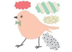 super schattige mini sticker 'Bird' MIMI'lou   kinderen-shop Kleine Zebra