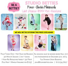 Last Chance Pinup Mini Session Photography Sale Studio Betties | www.studiobetties.com