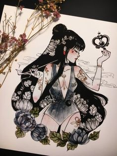Sailor Moon Fan Art by PeiTheDragon x / x / x / x x / x / x / x Sailor Pluto, Sailor Moons, Sailor Moon Fan Art, Sailor Moon Tattoos, Kunst Inspo, Art Inspo, Fantasy Kunst, Fantasy Art, Pretty Art