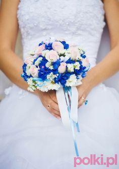 Bukiet ślubny z niebiekimi kwiatami - Bukiety ślubne - 60 propozycji wiązanek do ślubu - Ślub i wesele - Organizacja i formalności