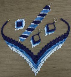 Beaded Jewelry Designs, Seed Bead Jewelry, Bead Jewellery, Seed Bead Patterns, Beading Patterns, Crochet Quilt Pattern, Beaded Crafts, Jewelry Crafts, Kutch Work Designs