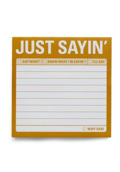 $4 Just Sayin' Post-it Notes