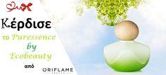 Λήγει την: 30 Νοεμβρίου 2014-  Η Oriflame Consultant Δράκου Ευαγγελία διοργανώνει διαγωνισμό και χαρίζει σε δύο (2) τυχερούς αρώματα Puressence by Ecobeauty Μπορείτε να δηλώσετε τη συμμετοχή σας έως και την 21:00 της ημέρας λήξης Οι αναλυτικοί όροι διενέργειας έχουν ανακοινωθεί σε αυτή τη σελίδα --- Καλή επιτυχία σε όλους!
