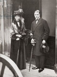 The Prince of Wales with his grandmother, Queen Alexandra 1919