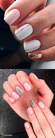 Gorgeous Light Pink short acrylic nails with an accent glitter nail ideas! Gorgeous Light Pink short acrylic nails with an accent glitter nail ideas! Light Pink Acrylic Nails, Best Acrylic Nails, Acrylic Nail Designs, Light Pink Nail Designs, Red Nails, Glitter Nails, Hair And Nails, Gel Nails At Home, Manicure Y Pedicure