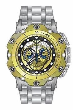 b710c768f1d Invicta Venom Chronograph Multi-Function Black and Gold Dial Stainless  Steel Men s Watch 16807