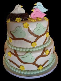 Sweet Dreamz Delights of Miami Birdie Baby Shower Cake