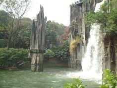 Shenzhen China, Waterfall, Plants, Outdoor, Outdoors, Waterfalls, Plant, Outdoor Games, Rain