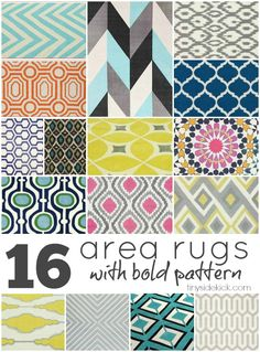 16 Fun, Bold, and Affordable Area Rugs- great resource!