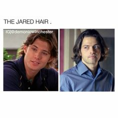 Omg i have to say that Misha is so hot with this #padahair, and look to Jensen. I can't handle with it.