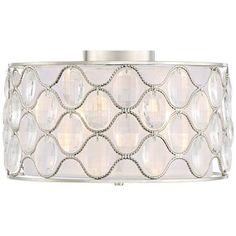 "Veola 16"" Wide Brushed Nickel Ceiling Light For pantry/closet hallway"