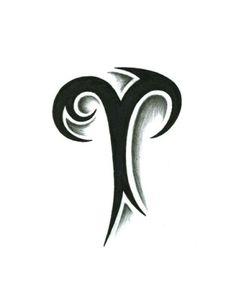 Tribal Aries Tattoo Design by JSHarts