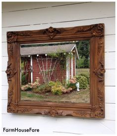 Rust Painted Ornate Mirror Large Rustic Mirror, Wall Hanging Mirror Leaning Mirror, Baroque Mirror, French Nordic Shabby Cottage Chic Mirror by FarmHouseFare on Etsy