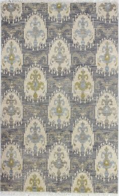 Manno Hand-Knotted Grey Area Rug