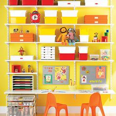 Enjoy free shipping on all purchases over $75 and free in-store pickup on the White elfa Kid's Workstation at The Container Store. Unleash your child's artistic side with our exclusive White elfa Kid's Workstation. Available only at The Container Store, this solution features elfa Solid Shelves that provide ample storage space for craft supplies, toys, books and games. A spacious desk area sets the stage for your little one to create, color or draw. elfa Mesh Drawers corral small ...