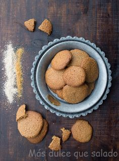 Más dulce que salado: Galletas de harina de avena, espelta y panela
