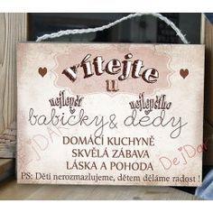 Obrázek, dárek pro pár - Dárky Dejdar - dárky k narozeninám a svatební dary Signs, Decor, Dekoration, Decoration, Shop Signs, Dishes