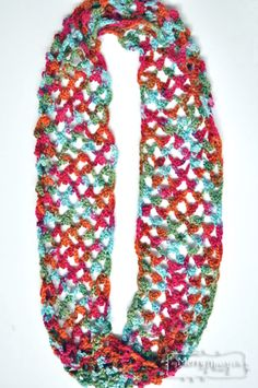 Picot Trellis Crochet Infinity Scarf - Free Pattern for a Perfect Spring or Fall Scarf