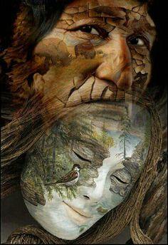 Native American Wisdom, Native American Pictures, Native American Artwork, Native American Pottery, American Indian Art, Native American History, Illusion Paintings, Illusion Art, Dream Catcher Art