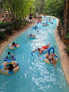 Relaxing in the lazy river at Disney's Typhoon Lagoon