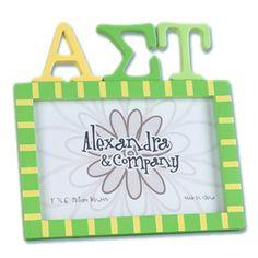 Alpha Sigma Tau Sorority Letter Photo Frame - $11.90