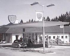 BP Tankstelle, circa 50er Jahre Vorarlberg Österreich