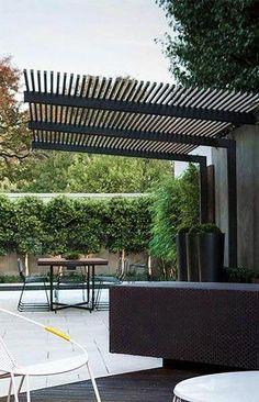 Pergola To House Attachment Timber Pergola, Modern Pergola, Outdoor Pergola, Outdoor Spaces, Outdoor Living, Pergola Designs, Patio Design, Gazebos, Pergola Shade