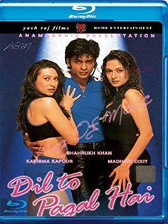 Dil to Pagal Hai: Shah Rukh Khan, Madhuri Dixit, Karisma Kapoor, Yash Chopra Bollywood Stars, Bollywood Poster, Bollywood Cinema, Madhuri Dixit, Akshay Kumar, Colin Firth, Shahrukh Khan, Watch Hindi Movies Online, Watch Movies