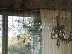 Old small garden fence for a valance - just nail it up!