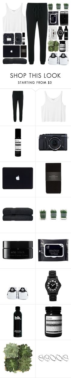 """""""Yes, I like the way you smile with your eyes"""" by one-styles ❤ liked on Polyvore featuring Lost & Found, Monki, Aesop, Fujifilm, Zara, arbÅ«, e.l.f., adidas, CASSETTE and Marc by Marc Jacobs"""