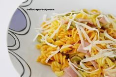 helices-jamon-y-queso Pasta Sin Gluten, Albondigas, Ethnic Recipes, Food, Spaghetti Bolognese, Pasta Salad, Pasta Recipes, Ethnic Food, Vegetables