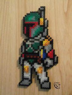 Boba Fett Star Wars Hama Perler Beads by CrazyHamaGuyBeads