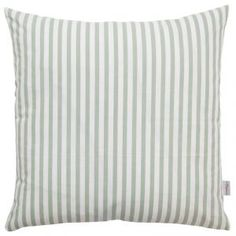 Striped Cushion in Dusty Mint
