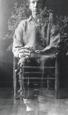 Postcard Self Portrait, Black Mountain (I), Robert Rauschenberg, 1952 La bohème: Photo