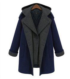Winter Trench Coat Women Hooded Long Warm Wool Jacket European Korean Fashion Overcoat