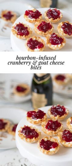 DELISH Party Appetizer, cranberries are infused with bourbon and added on top of goat cheese! DELISH Party Appetizer, cranberries are infused with bourbon and added on top of goat cheese! Tea Sandwiches, Holiday Appetizers, Holiday Recipes, Cranberry Appetizer Recipes, Quick Appetizers, Party Appetizers, Party Snacks, Fall Recipes, Snacks Sains