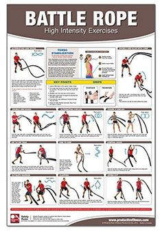 Battle Rope Poster/Chart: High Intensity Training: Becky Swan, Michael Jespersen, Michael Hutchison: 9781926534800: Amazon.com: Books: