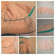 Creative of  rainy  ....: Petal / Tulip Sleeve -how to sew petal / tulip  sl...