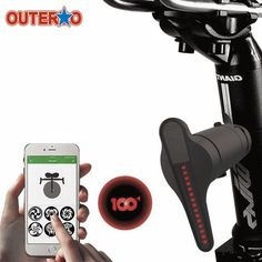 Smart Bluetooth Bicycle Tail light Brakes Indicators